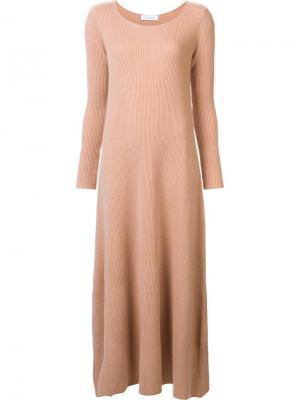 Ribbed maxi dress Ryan Roche. Цвет: телесный
