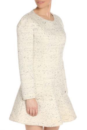 Красивое полуприлегающее платье Dondup. Цвет: серый