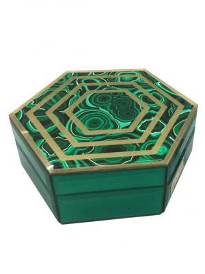 Шкатулка Изумруд (18x15,5x7,5см, из стекла для мелочей) Magic Home. Цвет: зеленый