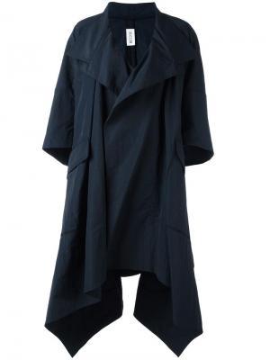 Асимметричное пальто свободного кроя Maticevski. Цвет: синий