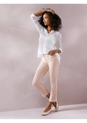 Моделирующие брюки 7/8 Linea Tesini. Цвет: голубой/белый, желтый/белый, розовый/белый