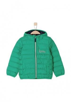Куртка утепленная s.Oliver. Цвет: зеленый