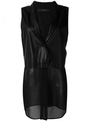 Sleeveless contrast blazer Federica Tosi. Цвет: чёрный