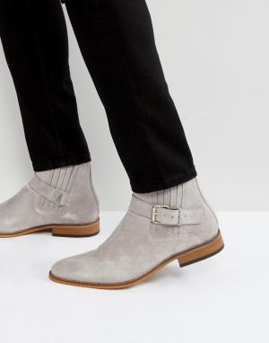 House of Hounds Серые замшевые ботинки с пряжками Adrian. Цвет: серый