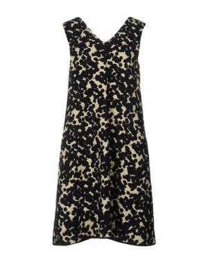 Платье до колена SARA LANZI. Цвет: темно-синий