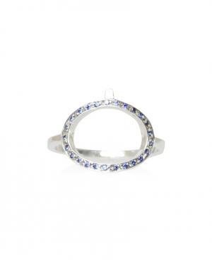 Серебряное кольцо с сапфирами Pamela Love. Цвет: серебряный
