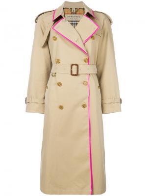 East Heat trench coat Burberry. Цвет: коричневый