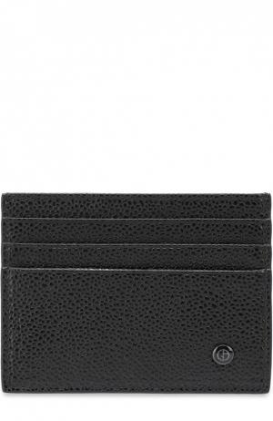 Кожаный футляр для кредитных карт Giorgio Armani. Цвет: черный