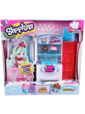 Игровой набор Шопкинс  Кулинарный клуб Кухня Холодильник Moose. Цвет: розовый