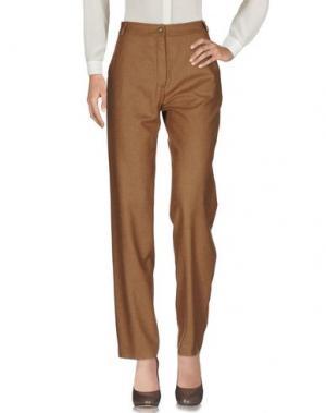 Повседневные брюки MARIO BORSATO. Цвет: хаки