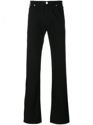 Расклешенные джинсы Armani Jeans. Цвет: чёрный