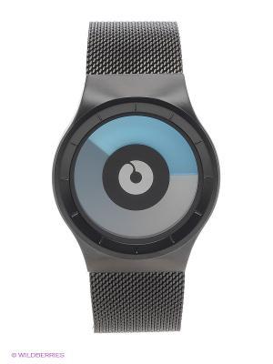 Наручные часы Celeste Black - Mono Ziiiro. Цвет: серый, голубой
