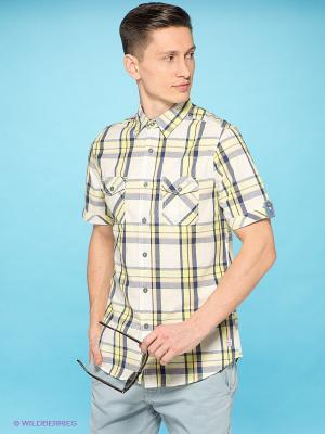 Рубашка E-Bound by Earth Bound. Цвет: молочный, желтый, синий