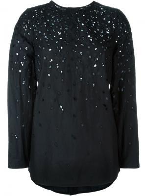 Перфорированная блузка Proenza Schouler. Цвет: чёрный