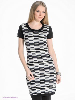 Платье PELICAN. Цвет: черный, серо-зеленый, бежевый