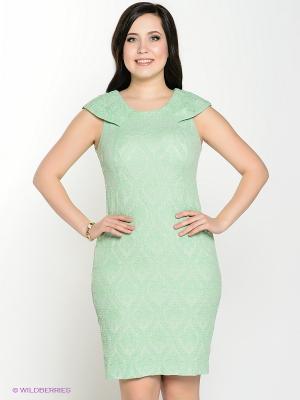 Платье Amelia Lux. Цвет: светло-зеленый