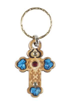 Брелок Крест Holy Land Collections. Цвет: бежевый