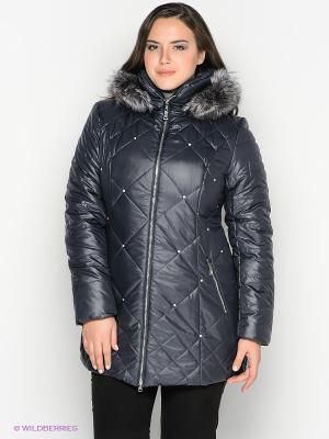 Пальто VIZANI. Цвет: синий, темно-серый
