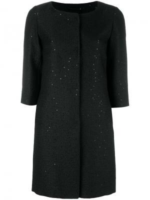 Пальто свободного кроя Herno. Цвет: чёрный