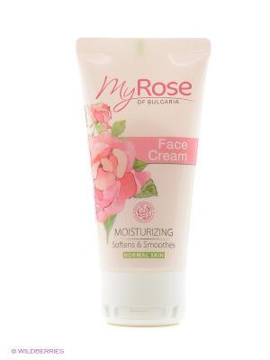 Крем для лица дневной увлажняющий Face Cream My Rose of Bulgaria Lavena. Цвет: белый, бледно-розовый, розовый