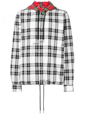 Рубашка с контрастным капюшоном Off-White. Цвет: чёрный