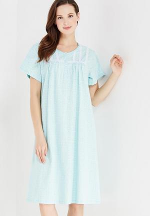 Сорочка ночная Vis-a-Vis. Цвет: бирюзовый
