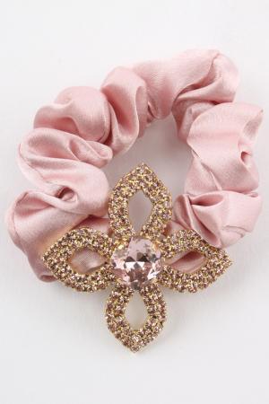 Резинка Shining Curl. Цвет: бежевый, розовый