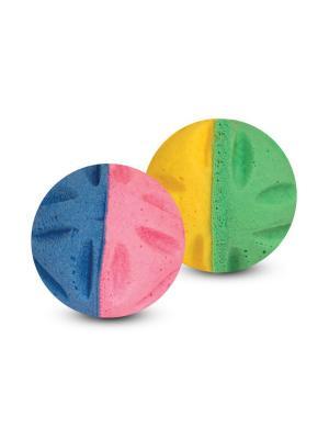 Мяч цветочный двухцветный /4шт/. TRIOL. Цвет: желтый, синий
