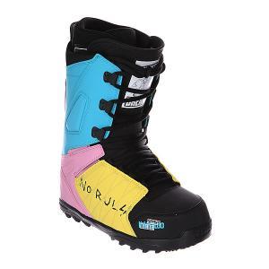 Ботинки для сноуборда  Lashed Spring Break Ano Black/Blue/Pink Thirty Two. Цвет: голубой,желтый,розовый