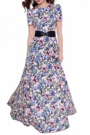Платье Olivegrey. Цвет: розово-зеленый