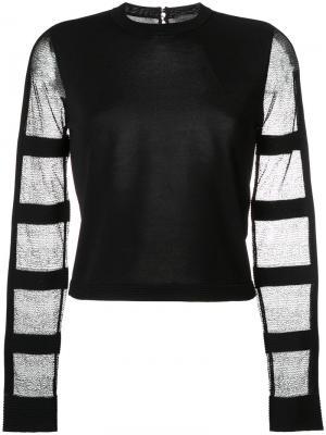 Блузка с прозрачными рукавами Alexander McQueen. Цвет: чёрный