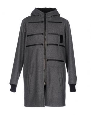 Пальто LETASCA. Цвет: серый