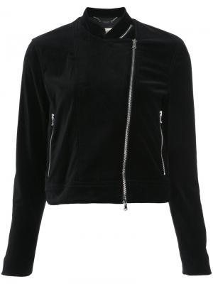 Куртка с боковой молнией Lagence L'agence. Цвет: чёрный
