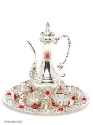 Чайный набор Рубин Marquis. Цвет: серебристый