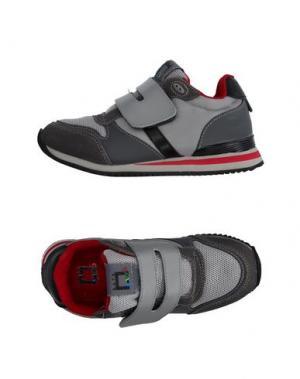 Низкие кеды и кроссовки D.A.T.E. KIDS. Цвет: серый