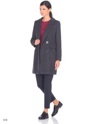 Пальто Shokolat. Цвет: серый