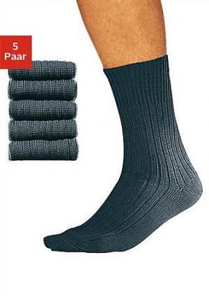 Комплект: Носки для работы, короткие (5 пар) COTTON REPUBLIC. Цвет: 5x серый мел.