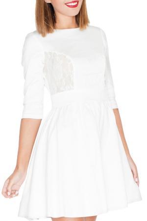 Платье KATRUS. Цвет: ecru