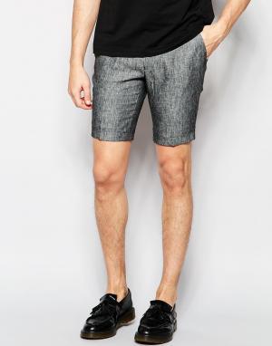 Vito Строгие шорты из 100% льна. Цвет: серый
