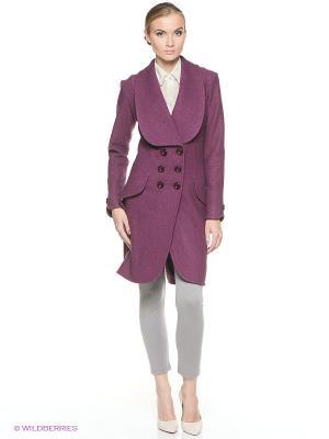 Пальто SUGARLIFE. Цвет: фиолетовый