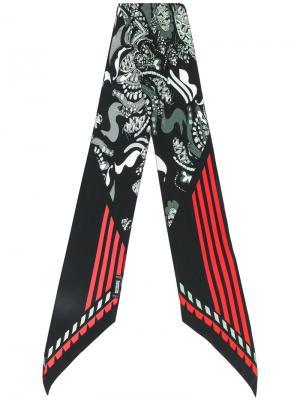 Тонкий шарф Rockins. Цвет: чёрный