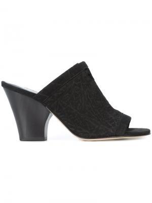 Low heel mules Zero + Maria Cornejo. Цвет: чёрный