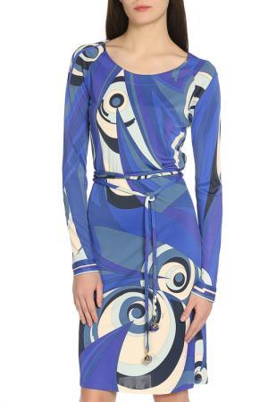 Платье Emilio Pucci. Цвет: синий, черный