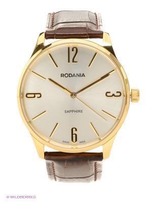 Часы RODANIA. Цвет: коричневый, золотистый