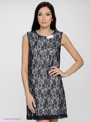 Платье LUIGI FERRO. Цвет: темно-синий, белый