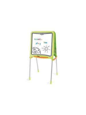 Двухсторонний складывающийся мольберт, зеленый, 52*48*105 см, 1/4 Smoby. Цвет: зеленый