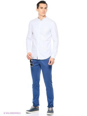 Рубашка Reserved. Цвет: голубой, светло-голубой
