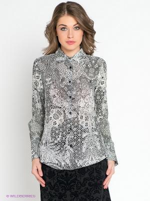 Блузка MILANO ITALY. Цвет: черный, белый