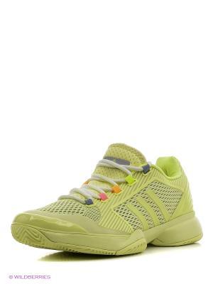 Кроссовки aSMC barricade Adidas. Цвет: салатовый, белый