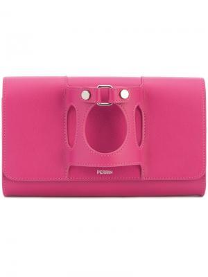 Клатч с элементом перчатки Perrin Paris. Цвет: розовый и фиолетовый
